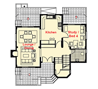 4 Bedroom 3 Bathroom Floor Plan